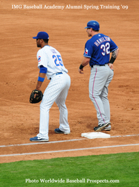 IMG Baseball Alumni Derek Lee and Josh Hamilton at Spring Training 2009 - photo by WBP